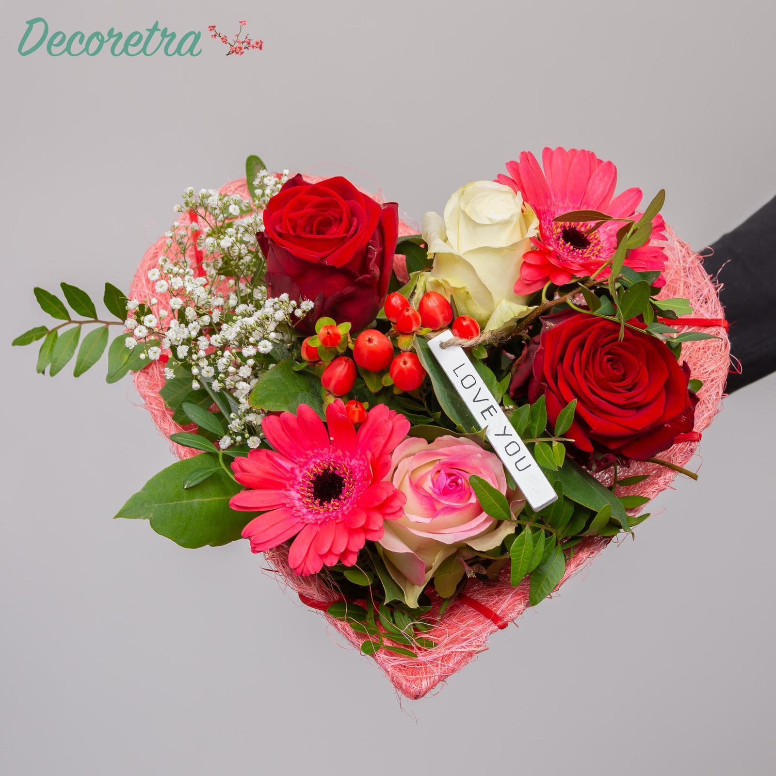 Gemengd Valentijnsboeket groot