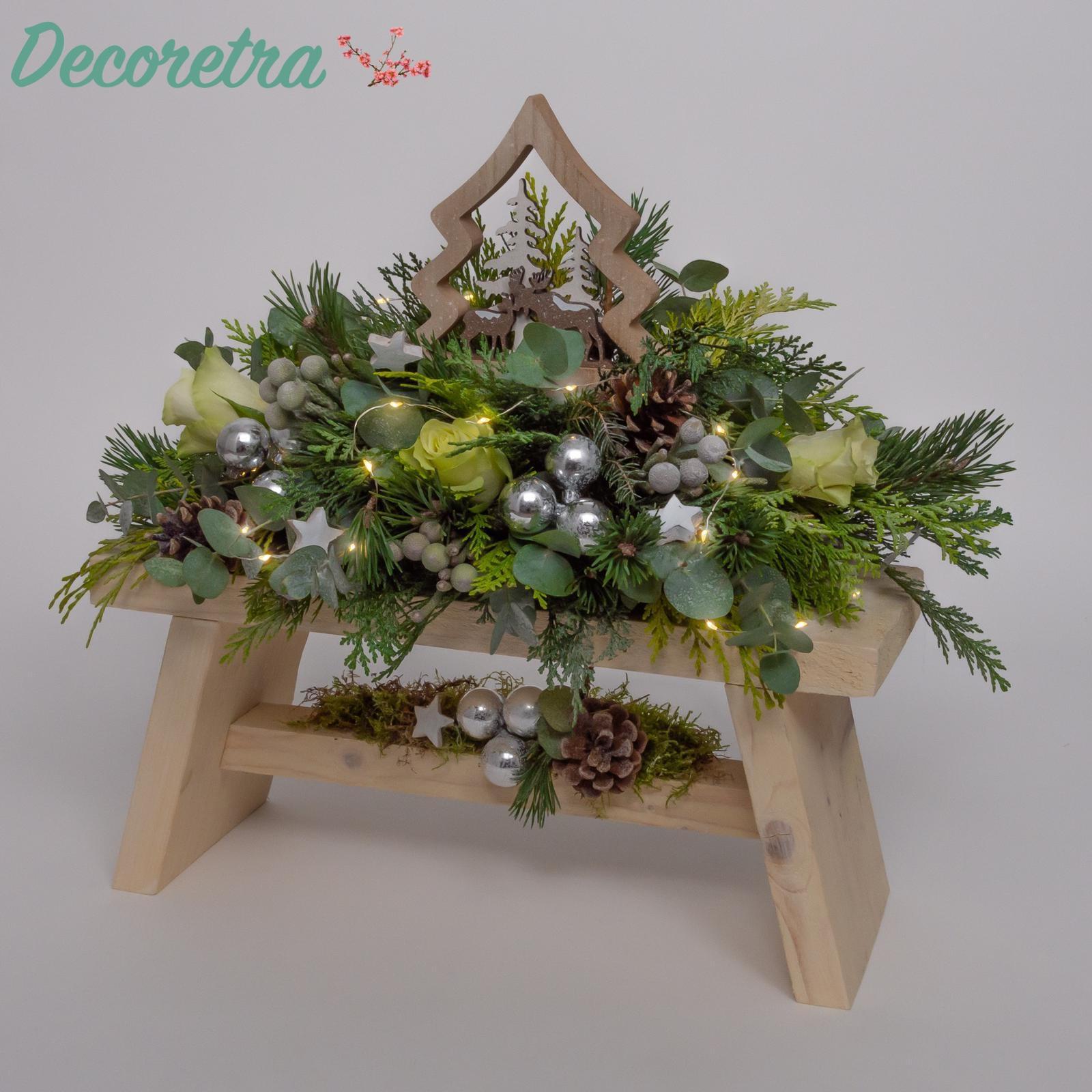 Kerstbank wit