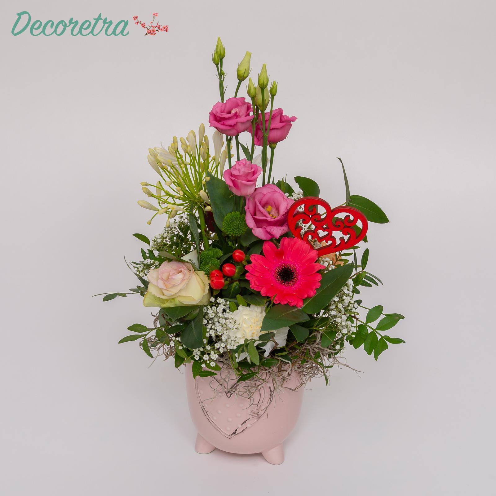 Hartpotje roze