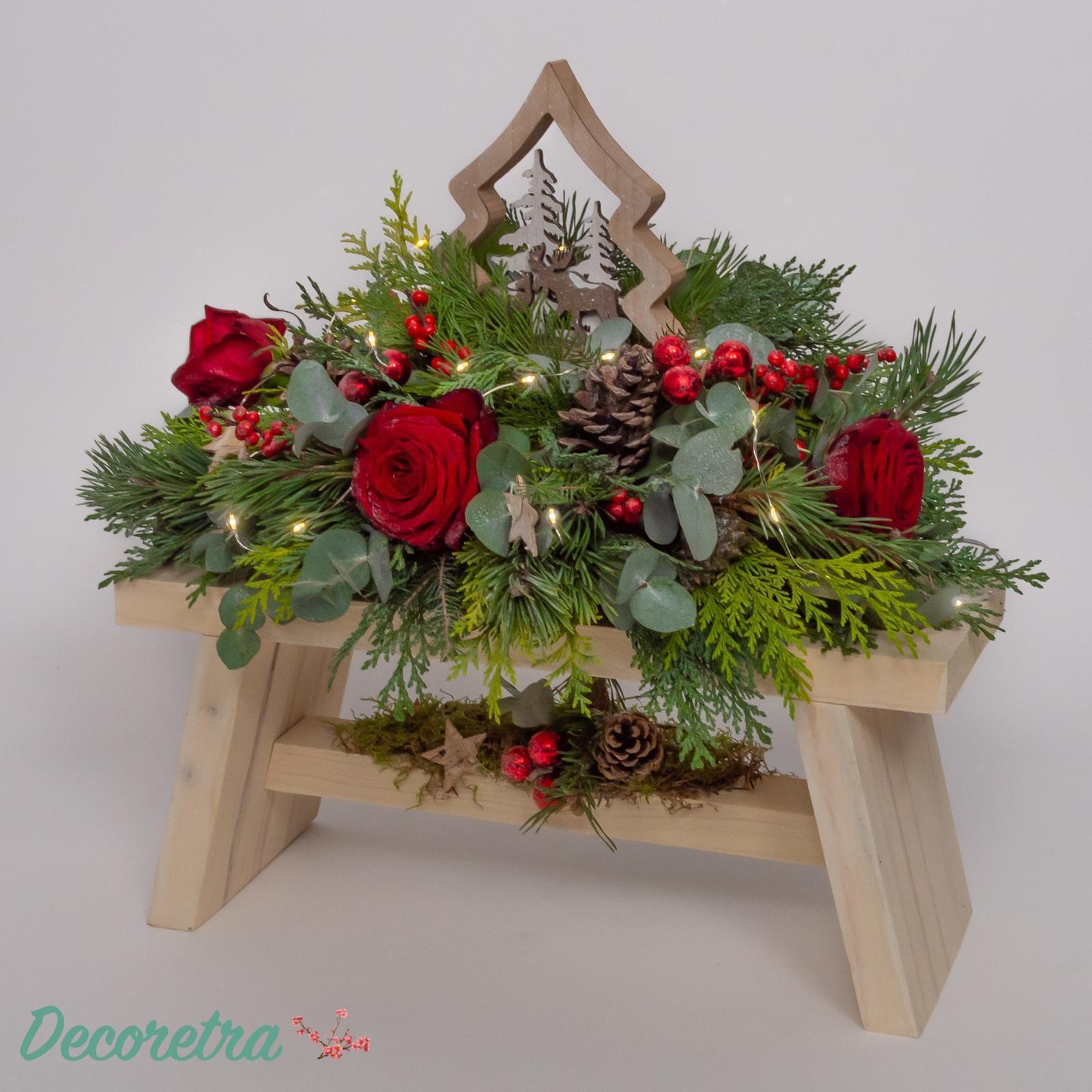 Kerstbank rood