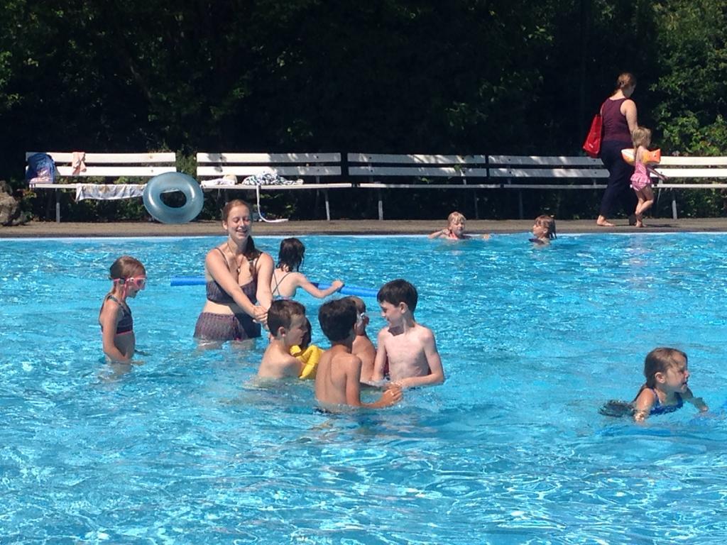 Sportunterricht im Jonsdorfer Bad