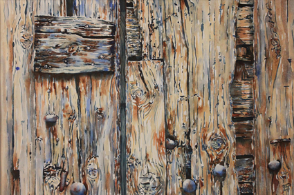 Vieille porte Castillon du Gard - 70x100 cm - 2014