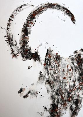 Esprit de bouquetin - 80x60cm - 2016