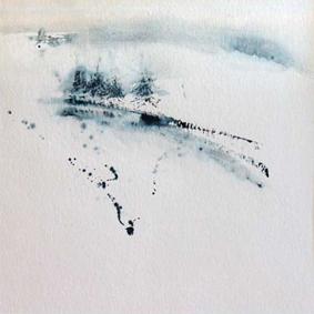 Echapée hivernale III - 60x60 cm - 2016
