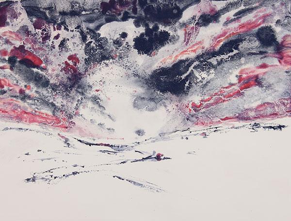 Horizons ardents II - 60x80 cm - 2019