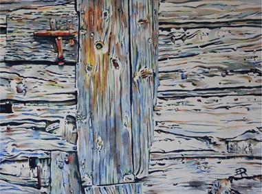Vieille porte III St Fortunat - 70x90 cm - 2014