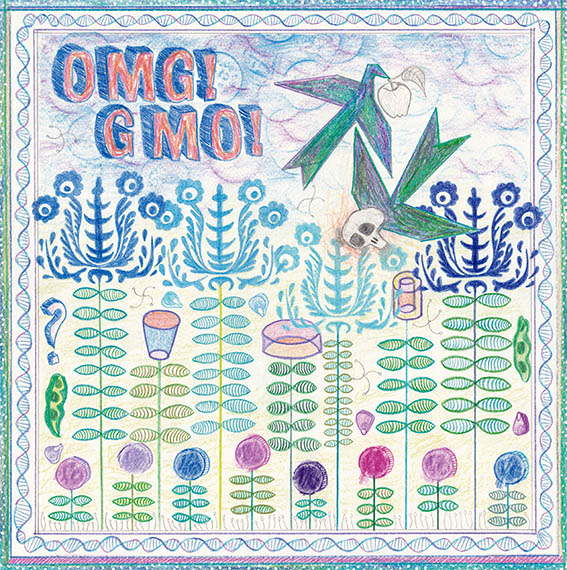 OMG GMO 2018 Pencil and Colored Pencil on Paper 30x30cm © Cindy Leitner