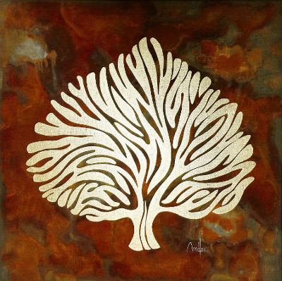 Antic tree n°IV -acrylique sur toile - 60cm x 60cm - disponible