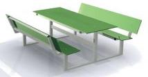 Bank & Tisch HPL mit Rückenlehne