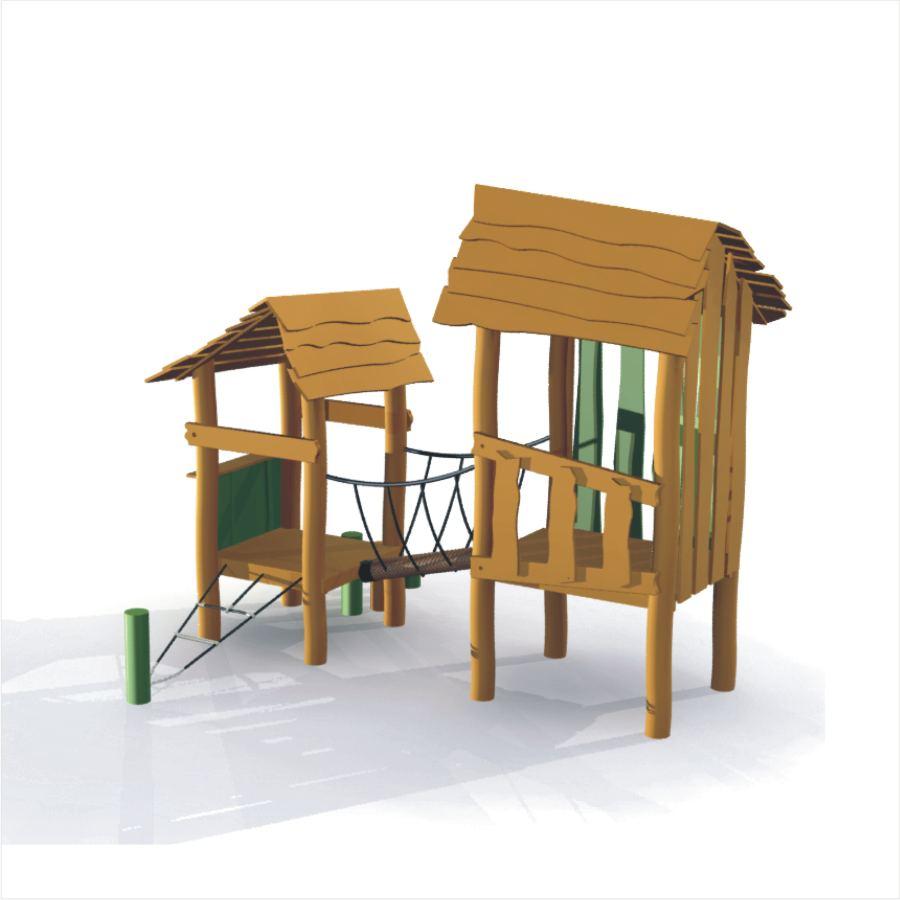 Spielhütte Omas Haus aus Robinie