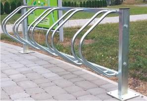 Fahrradständer silber