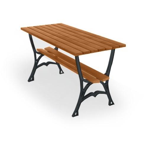 Stilvoll: Malaga-Tisch mit Regal