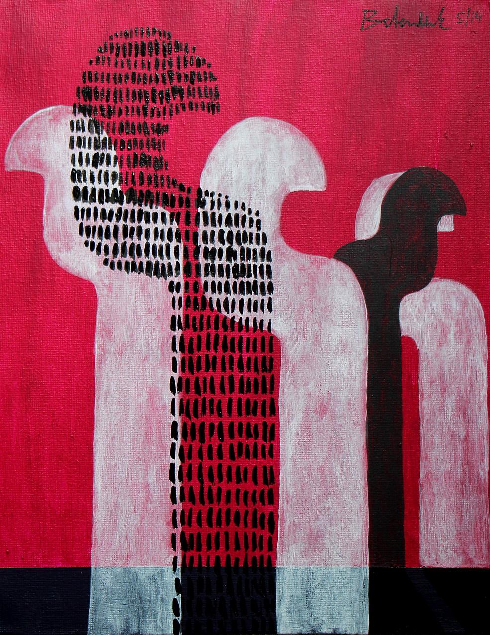 silentium Nr.13 / 30 x 24 Acryl auf Leinen