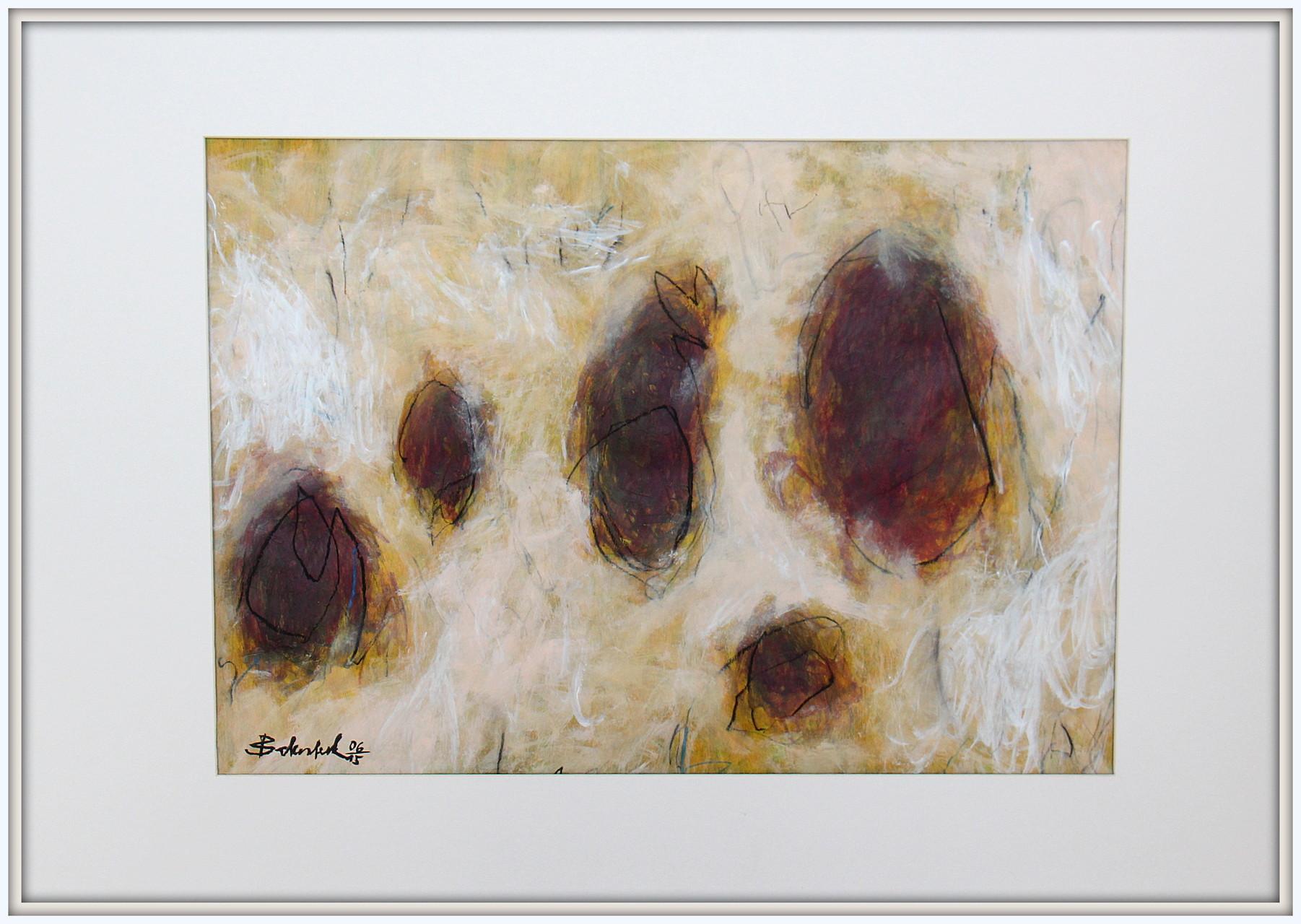Terra Nr.12 / 50 x 70  Acryl, Lack, Ölkreide auf Papier