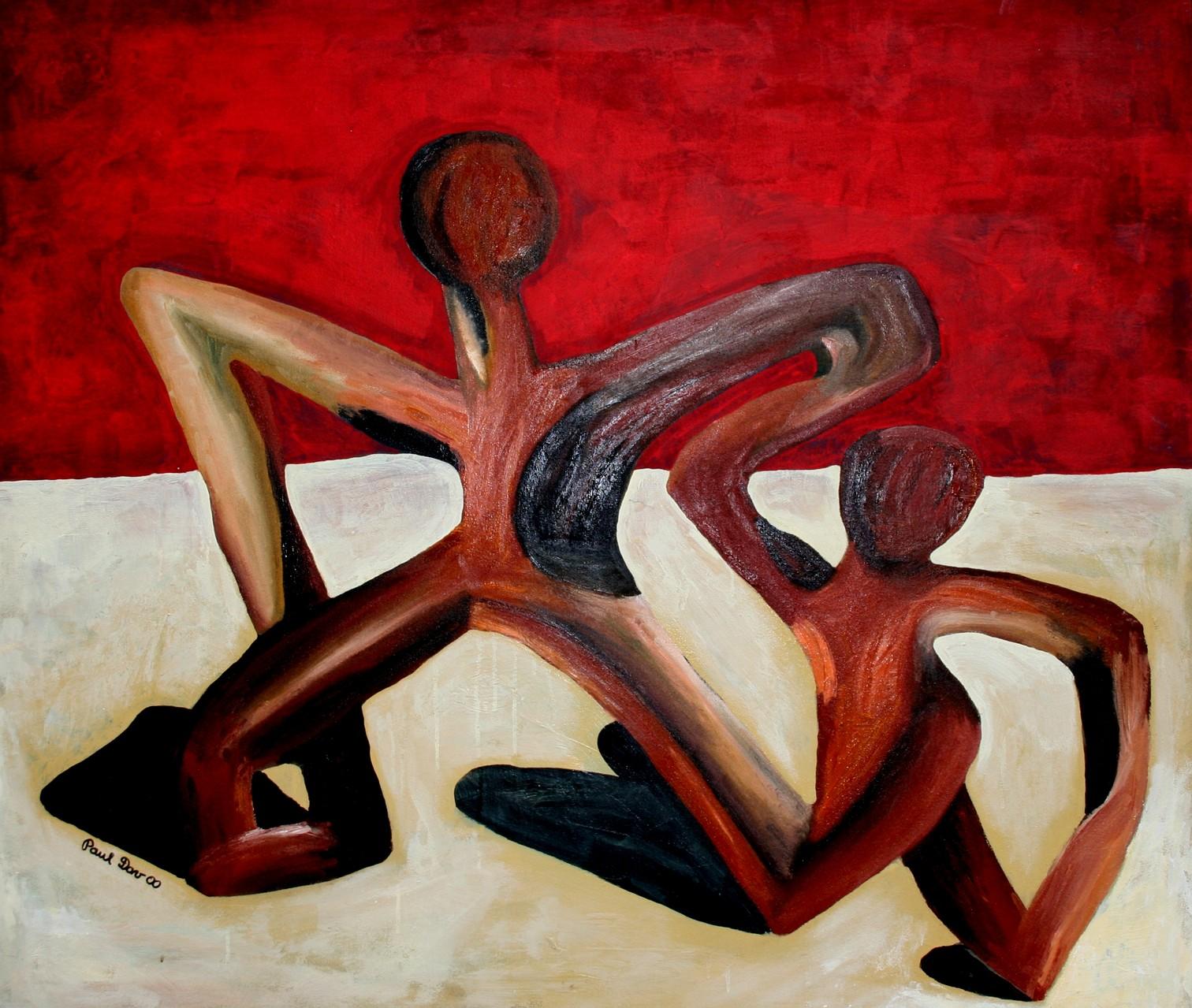 Der Tanz / Öl, Acryl auf Tetilie
