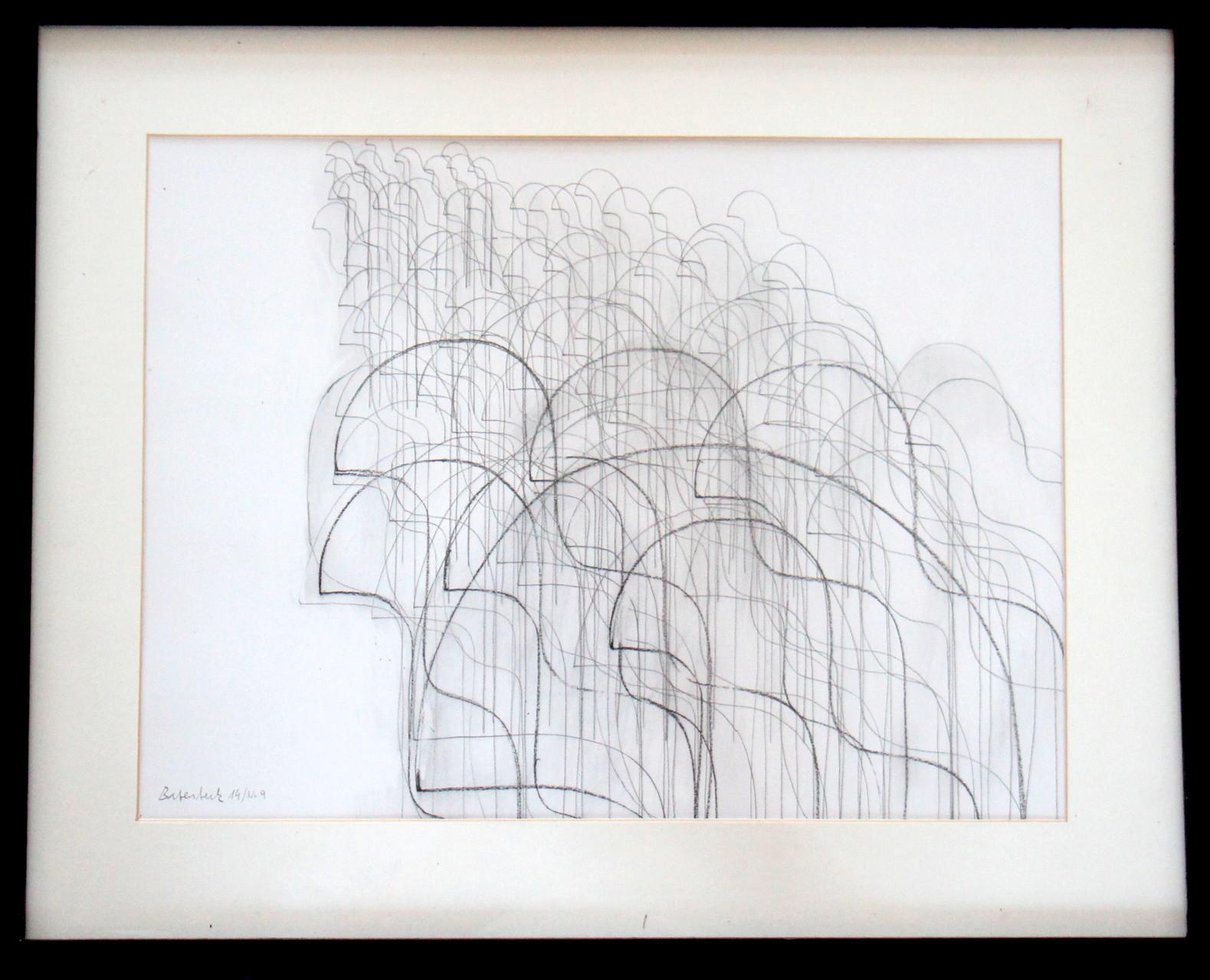 silentium Nr. 9/ 30  x 40 Kohle auf Papier