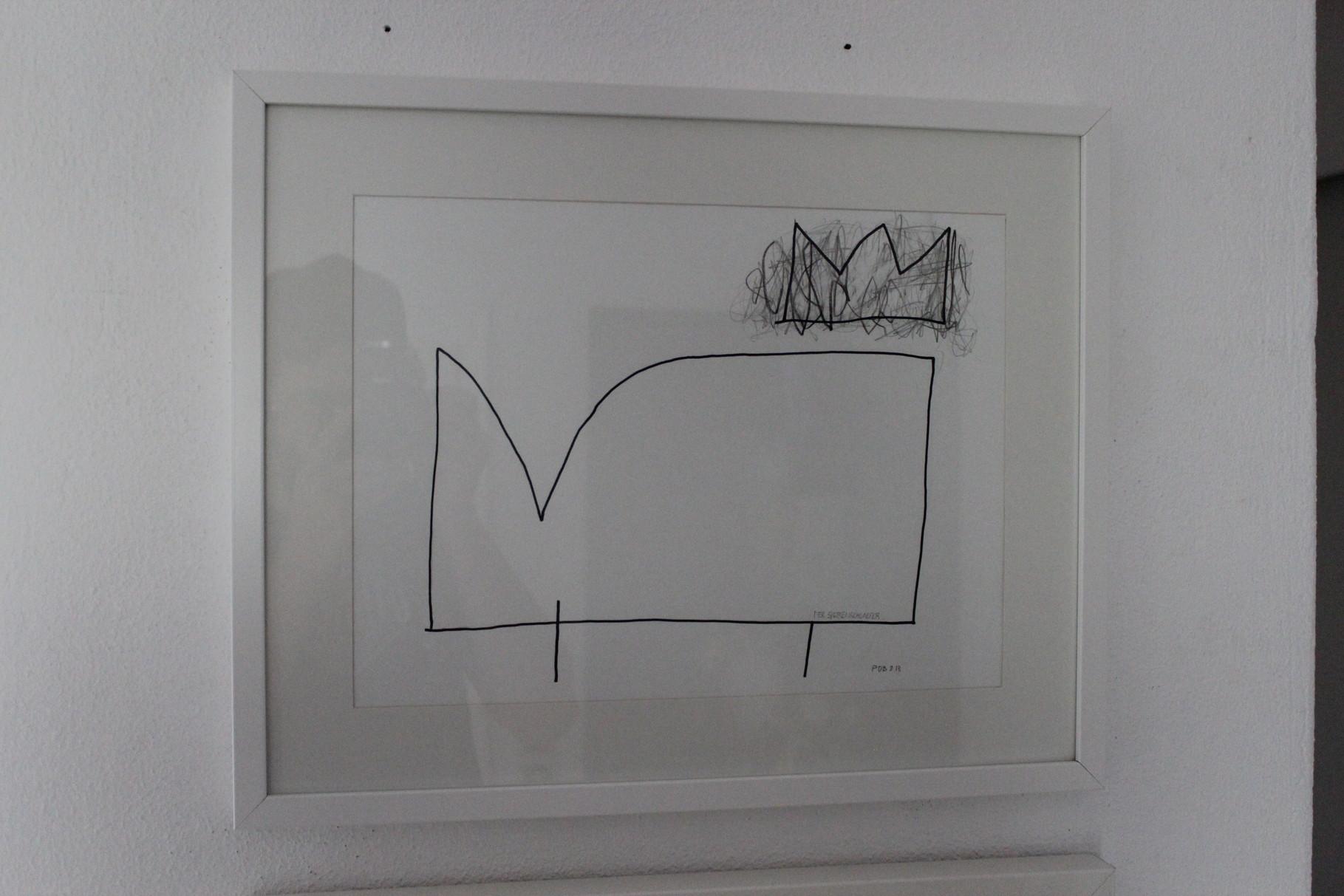 Der Siebenschläfer / 40 x 50 Kohle auf Papier