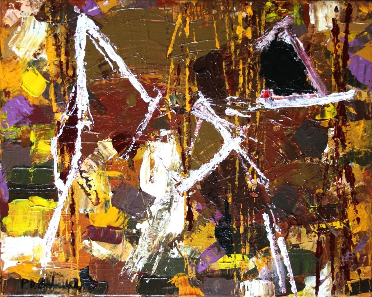 Saat der Erde / 40 x 50 Acryl auf Leinwand