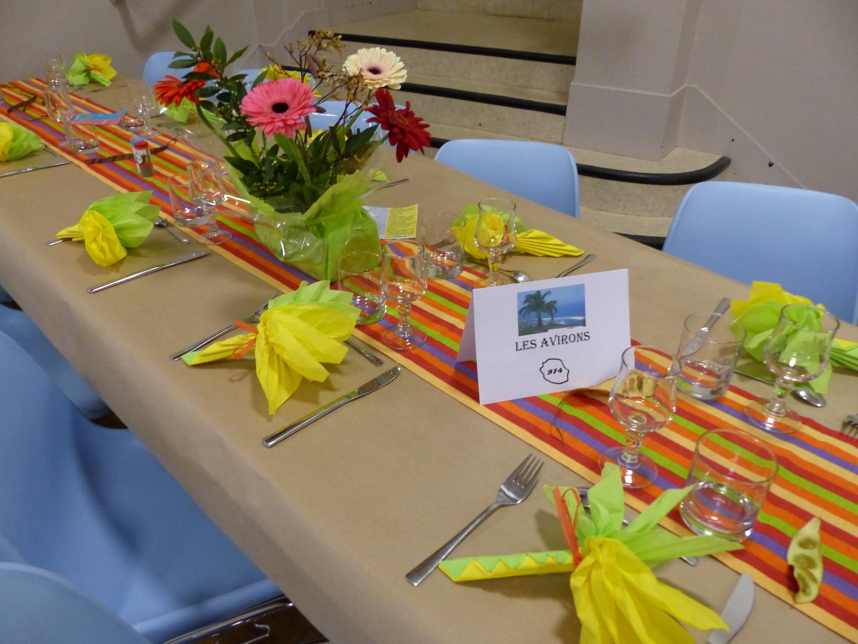 Merci aux bénévoles pour les décors de table..
