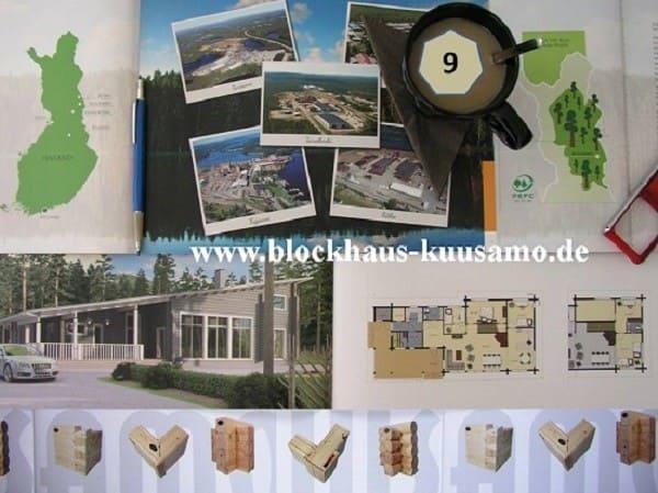 Massivholzhaus in echter Blockbauweise mit Pultdach