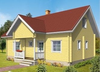 Blockhaus Rostock als Wohnhaus - Typenhaus - Kataloghaus - Hausentwurf - Einfamilienhaus