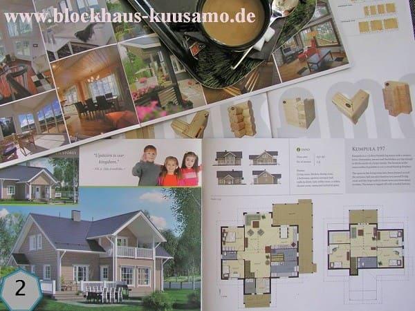 Blockhaus als Einfamilienhaus - Wohnblockhaus bauen - Hausbau - Neubau