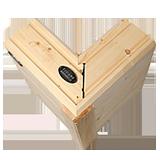 Wandaufbau - Blockbalken mit der Stärke von 202 bis 275 mm. Blockhaus - Massivholzhaus - Holz