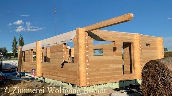 Holzbau östlich von Coburg in Bayern