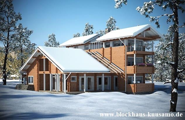 Wer ökologisch alles ausschöpfen möchte, kann zum Beispiel ein langlebiges Blockhaus als Wohnhaus bauen