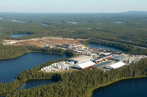 Blockhaus- und Sägewerk in Kuusamo Finnland
