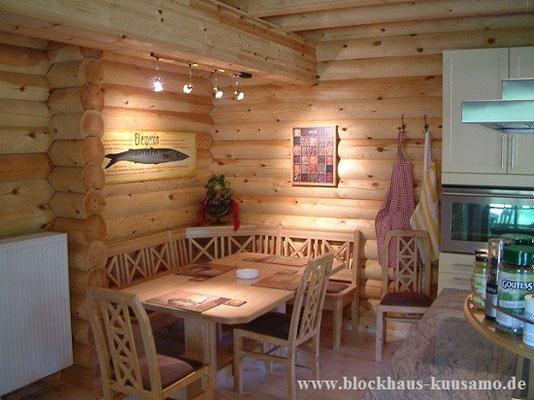 Küche im Wohnblockhaus - Massivholzhaus