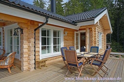 Blockhaus als Wohnhaus und  Zweitwohnhaus