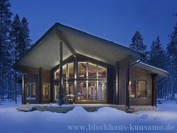 Blockhaus im Winter - Wohnhaus - Architektenhaus - Finnland