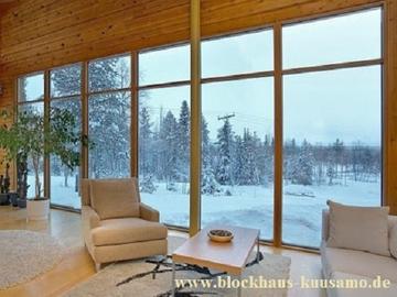 Wohnzimmer im Blockhausvilla -  © Blockhaus Kuusamo