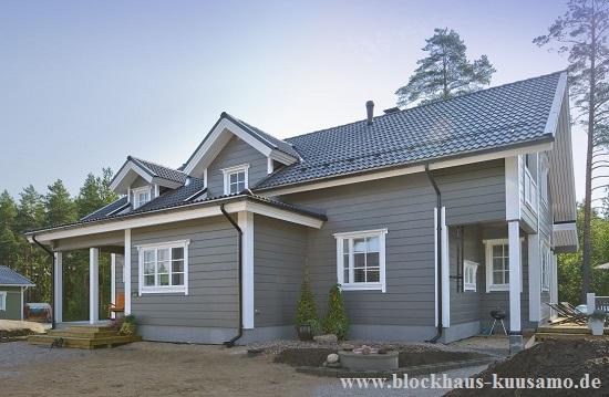 Blockhaus als Wohnhaus  - Wohnblockhaus  - Finnisches Holzhaus - Einfamilienhaus © Blockhaus Kuusamo