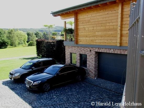 Blockhaus als Hanghaus mit Wohnkeller - Hessen