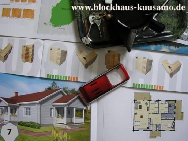 Barrierefreies Blockhaus mit finnscher Flair und klaren Linien auf einer Ebene - www.blockhaus-kuusamo.de