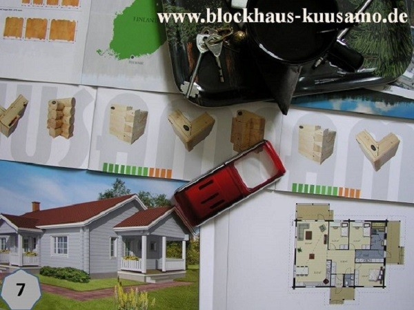 Barrierefreies Blockhaus aus Finnland in Greifswald - Blockhausbau - Holzbau - Bungalow bauen - Bausatz Holzhaus - Ausbauhäuser - Rohbauhaus -  Bausatzhaus - selber baueng