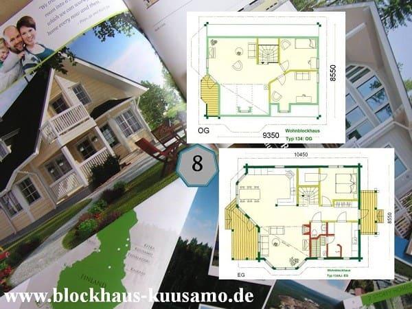 Entwurf: Blockhaus planen  - Holzhaus bauen - Kaufen Wohnblockhaus Wiesbaden - Einfamilienhaus kaufen - Wohnhaus bauen - Hessen - Hauskauf - Architektenhäuser