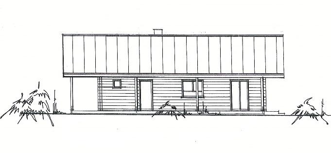 Seitenansicht - Blockhausbau mit Planung von A bis  Z - Holzhaus in massiver Blockbauweise - Blockhausbau in Bayern Deutschland - Hausplanung