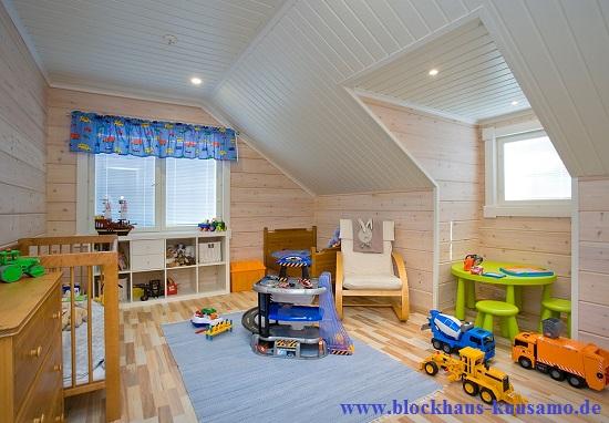 Kinderzimmer im wohngesunden Wohnblockhaus