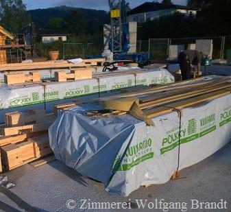 Holzhaus Bausatz Lieferung auf der Baustelle - Blockhausbau - Niedersachsen