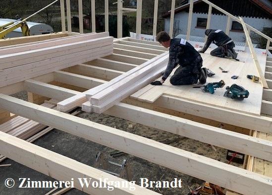 Zwischendecke - Holzhaus bauen - Bayern