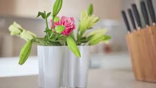 Der Kassiker -  Begehrte Vase des finnischen Architekts und Designers Alvar Aalto