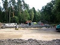 Blockhausbau - Blockhaus bauen -  Baubeginn - Fundament