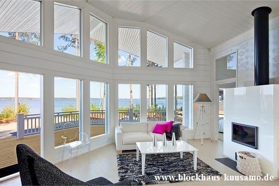 Blockhaus mit Panoramablick