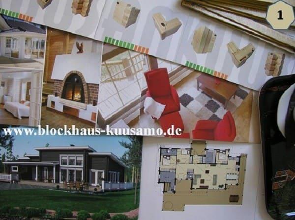 Barrierefreies Blockhaus mit Pultdach auf einer Ebene