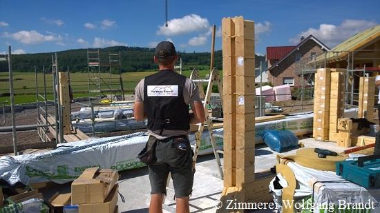 Blockhausbau Montage