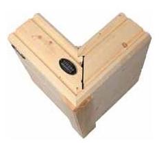 0-Ecke für Blockhäuser nach skandinavischer Architektur und für Blockhäuser im Bauhausstil - Architektenhäuser in massiver Blockbauweise - Traumhäuser - Wohngesundes Domizil  aus Holz - Allergikerfreundliche Häuser ohne Folien - Hausbau - Holzbau - Neubau