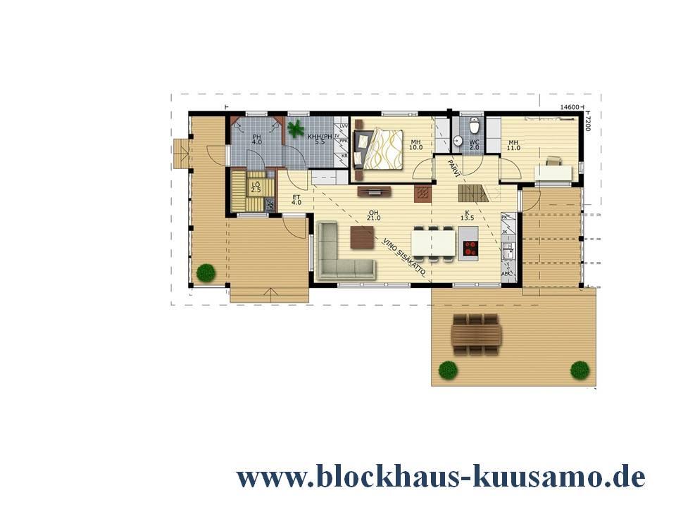 EG-Grundriss - Wohnhaus - Einfamilienhaus